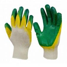 Перчатки трикотажные с двойным латексным покрытием ладони (обливные)