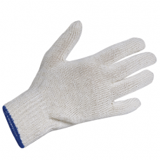 Перчатки х/б с ПВХ ПШ (полушерст.) утеплённые, светло-серые, 60-62 гр.