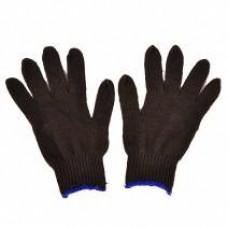 Перчатки х/б без ПВХ ПШ (полушерст.) утеплённые, черные, 53-55 гр.