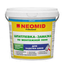 Шпатлевка-замазка по монтажной пене Neomid для заделки швов